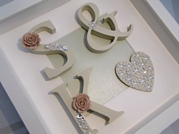 Initial Box Frame pink Rose